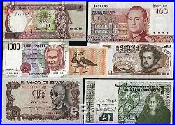 Euro First 18 Different Eu Country Pre Euro Banknote Unc Complete Collection Set