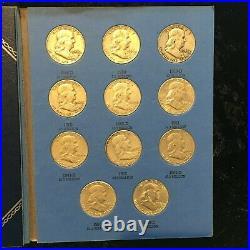FRANKLIN Half Dollar Set 1948 1963 COMPLETE 35 coins 90% SILVER