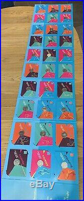 FULL SET of Olympic 50p Coins Uncirculated/Carded In album + COMPLETER MEDALLION