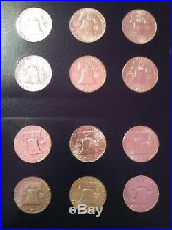 Franklin Half Dollar Collection 1948-63 Complete Set Includes 18 Unc and 1960 Pr