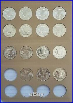 Franklin Half Dollars Complete Set Gem BU 1948 1963 PDS