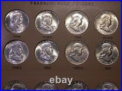 Franklin Halves BU/UNC Complete 1948-1963 Dansco Set
