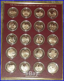 Franklin Mint History Of The United States-200 Bronze Coins Complete Set-1776