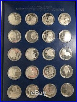 Franklin Mint Medallic History of Science Sterling Silver 100 Coins Complete Set