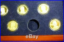 Franklin Mint Presidential $1 Complete Set 39 Proof Coins With Quality Csse