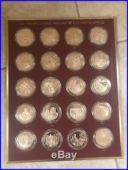 Franklin Near Mint History Of The United States 200 Bronze Coin Complete Set