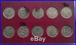 French Colony 1948-49 Complete Set of 23 Essai Coins, Rare, Togo, Reunion, Cameroom