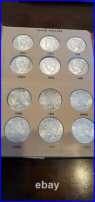 High Grade Peace Silver Dollar Complete 24 Coin Set ALL UNCIRCULATED MS++
