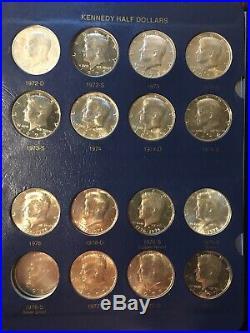 Huge Kennedy Half Dollar Lot 104 Coin Near Complete Set Collection Album AU-BU