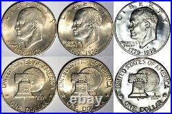 Ike Dollar Complete Set 1971-78 UNC & Proof K6962