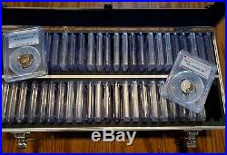 Jefferson Nickel Complete Set 1973 S TO 2017 S PCGS PR 69 DCAM With Collector Case