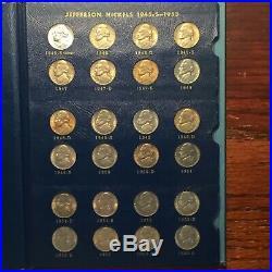 Jefferson Nickel Set in Album Complete 1938-1964 All Choice-Gem BU