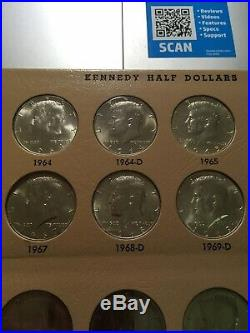 Kennedy Half Dollar Set BU 1964-2007 Complete Set Gems Beautiful Collection
