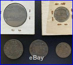 LOT 10 1856-1896 SPAIN-PUERTO RICO COLONIAL COIN COLLECTION COMPLETE SET + Peso