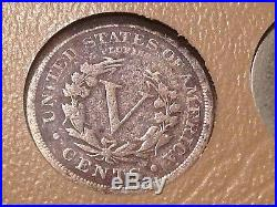 Liberty V Nickel 33 Coin Complete Set Dansco Album 1885,1886,1912S Included