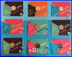 London Olympic 2012 50p Full Set Uncirculated Coins Complete Album Brand New