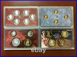 Lot of 11 U. S. Mint SILVER PROOF sets 1999 through 2009 (Complete Run)