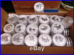 Lunar Series II Perth Mint Australia 2008-2019 Complete 12 Coin 1oz Silver Set