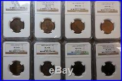 Near Complete UNC 109 Coin Great Britain UK Half Penny Set NGC MS65 1860 -1967