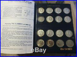 Near complete set KENNEDY half dollars 1964-1986 inc silver & proofs 59 coins