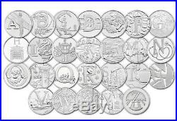 New Complete set A-Z 10p Coins By The Royal Mint Uncirculated