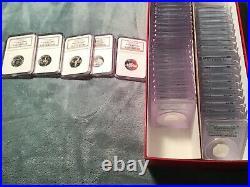 Ngc Pcgs Pr69 Dcam 1999-2008 50 Silver State Quarter Complete Set