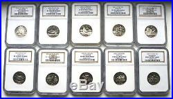 Ngc Pf70 Complete Set (clad) State Quarters (1999-2009) 56 Coins Proof 70 Uc