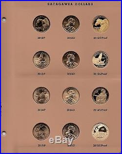 PDS Sacagawea 2000-2014 + 2015 P D S PROOF COMPLETE SET BU NATIVE dollar Dansco