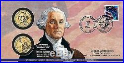 PRESIDENTIAL DOLLAR FIRST DAY ISSUE COIN COVERS COMPLETE SET, P21 thru 16FC