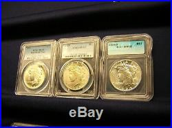 Peace Dollar Complete Set All Mint State. Possible Gold. See It