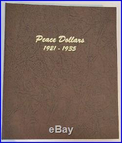 Peace Dollars Set PDS 1921 1935 in Dansco Album Complete set of 24 AU/BU