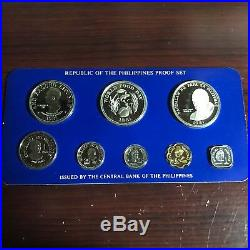 Philippines 1981 8-coin Proof Set With Case, Certificate & Literature Complete