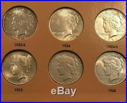 Premium Peace Dollar Complete Set, 1921-1935, CH/BU, Top Quality Collection