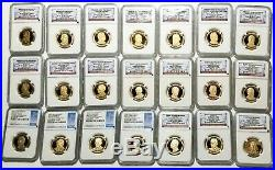 Presidential Dollar Proof Lot, Complete Set of 39 Coins, NGC 4664.07