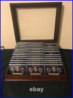 Presidential Dollar Set/ Proof P/D/S Mints -117 Complete Coins With Display Case