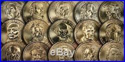 Presidential Golden Dollars 2007-2016 Complete (p) Philadelphia Mint Roll Set