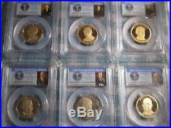 Presidential series PCGS graded PR70Deep Cameo dollar 39 complete coin set