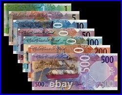 Qatar 2020 (2021) 1 5 10 50 100 500 UNC Complete Set (NB)