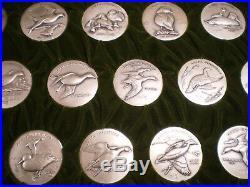RARE Ducks Unlimited 999 Pure Silver Medallions Larry Toschik Complete Set