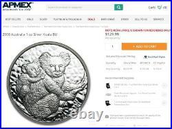 Rare! Complete Set (14) Australia 1 Oz. Silver Koala Coins 2007 2020 Koalas