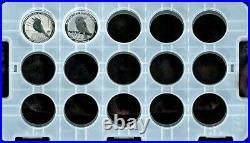 Rare! Complete Set (32) Australia 1 Oz. Silver Kookaburra Coins 1990 2021