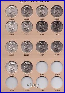 Set / Collection Kennedy Halves 1964 2015 PD complete all BU 96 pieces