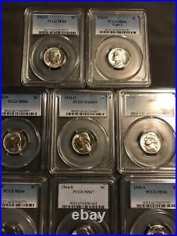 Silver War Nickel Registry Set PCGS MS66 Complete FS Basic War Set, Circulation