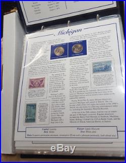 Statehood Quarters Collection Postal Commemorative Society Complete Set Mint