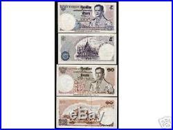 Thailand 5 10 Baht P80-81 1969 King Rama IX Commemorative Unc Rare Complete Set