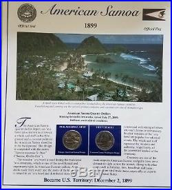 The 56 coin COMPLETE set of the Statehood Quarters and stamp Collection