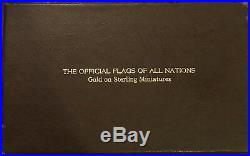The Official Flags Of All Nations/ Gold On Sterling Miniatures/ Complete Set