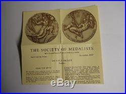 The Society Of Medalists #56 1957 Creator, Donald Delue, Original Complete Set