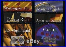 The State Quarter Program Complete Set 1999-2008 + All 6 2009 P&d Territories