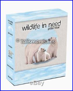 Tuvalu 2012 Wildlife in Need Complete 5 Coin Collection Set $1 Pure Silver Proof